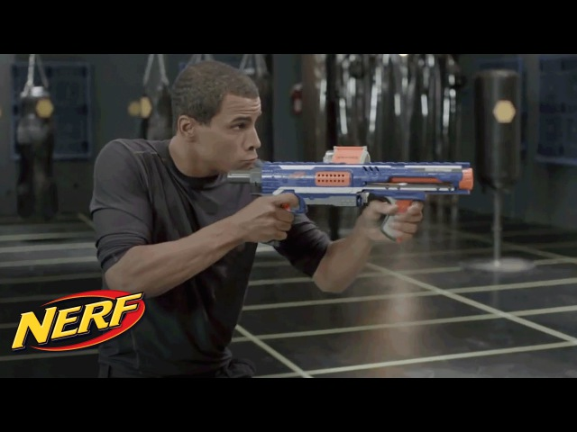 NERF - John Brenkus From Sport Science Shows Off The Rampage Retaliator Blasters