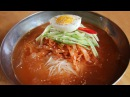 Dongchimiguksu cold noodle soup with radish water kimchi