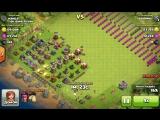 Моя атака в clash of clans было легко )))