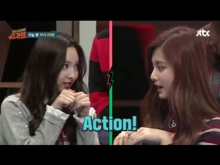 151229 TWICE's Nayeon-Tzuyu & Lovelyz's Jin showing individual skill @ JTBC Sugarman