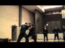 Jumonji in Battle, Yakov Schacht seminar, Ninjutsu Akademie Hamburg in AKBAN