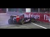F1 GP Singapur Accidente de Ricciardo Crash Replays