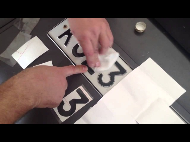 Как правильно клеить пленку на номер Нано авто пленка на номер от камер