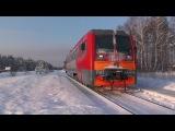 Рельсовый автобус РА1-0024 платформа Осаново
