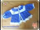 Детский жакетик крючком - Часть 1. Childrens jacket crocheted Part 1