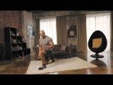 Упражнения для ног: выпрыгивания из выпада | Домашние тренировки с Денисом Семенихиным #5