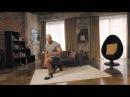Упражнения для ног: выпрыгивания из выпада   Домашние тренировки с Денисом Семенихиным #5
