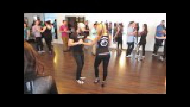 Bachata workshop with Ataca La Alemana at the Island Touch night on January 4th 2015