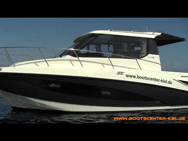 Quicksilver Activ 855 Cruiser mit 3.0L TDI Diesel -Bootscenter Kiel--Стационарный дизельный мотор,площадка для купания.112,000 т