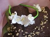 Жасмин из фоамирана - ободок для волос. Мастер класс. Цветы из фоамирана.