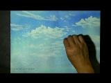 Акварель : как просто нарисовать воздушные облака