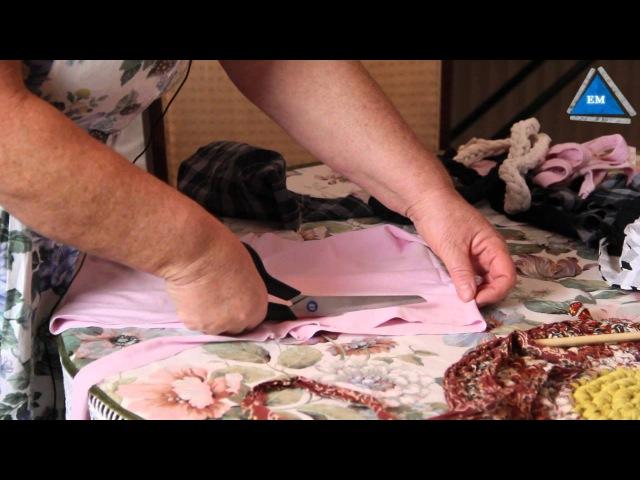Как связать коврик крючком из тряпок своими руками