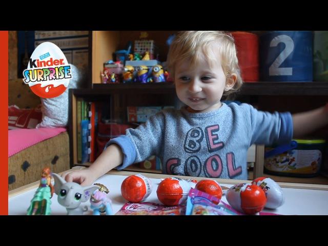 Открываем Киндеры / распаковка / сюрпризы - Opening 6 Kinder Surprise Eggs - Otvaranje kinder jaja