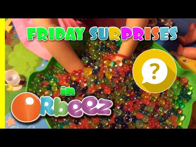 Ищем сюрпризы в шариках ОРБИЗ гидрогель ORBEEZ Suprise Toys water gel colorful balls Video za decu