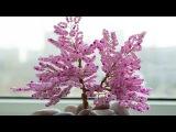 Мастер-класс дерево из бисера. Плетение сакуры