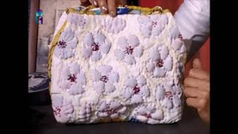 Шьем сумки в технике ткачества и прорезной аппликации на основе разреженной рогожи Мастер класс