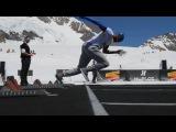Hublot/Jungfraubahnen - Sprintduell auf dem Jungfraujoch: Asafa Powell vs. Dario Cologna