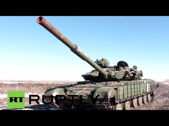Ukraine See TANKS abandoned in Debaltsevo by fleeing Ukrainian soldiers