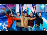 Golden buzzer act Boyband are back-flipping AMAZING! Audition Week 2 Britain's Got Talent 2015