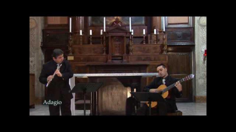 E.G.Baron - Sonata in Sol per flauto e chitarra (Video HD)