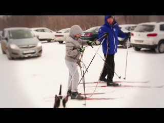 г.Отрадный. У нас много спортсменов лыжников и красивая лыжная трасса в лесу  2016 г.