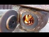 Реактивная печь ракета из пропанового баллона rocket stove