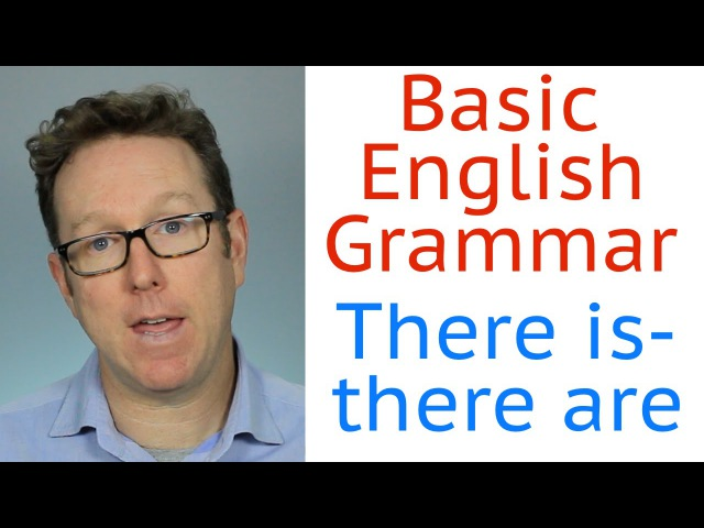 Basic English grammar A1 - There is, there are - inglés básico
