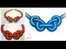 Como hacer un collar de trapillo o totora con un nudo celta de dos colores