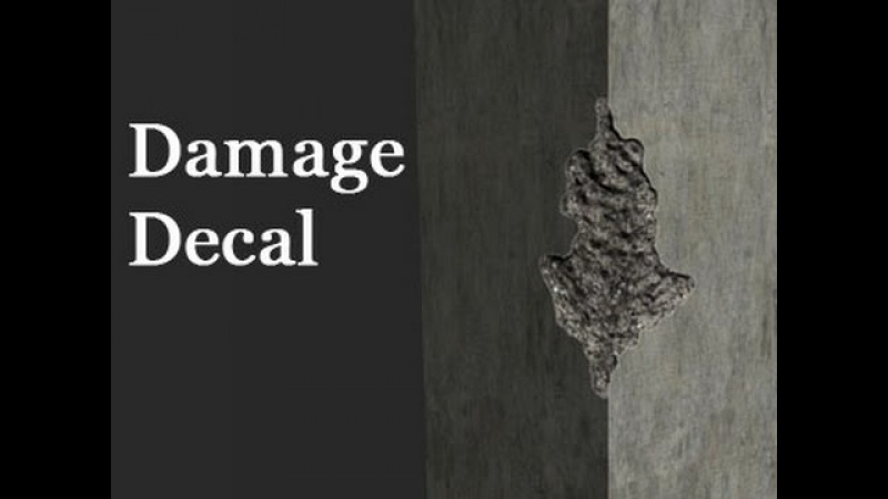 Game Assets - Damage Decals - Part 1