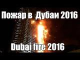 Пожар в дубаи на новый год 2016. Fire Dubai 2016