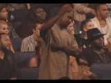 Kanye West dancing during The Weeknd