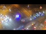 ДТП с перевернутым реанимобилем в Москве попало на видео
