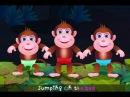 Five Little Monkeys Jumping On The Bed | Part 1 - The Naughty Monkeys | ChuChu TV Kids Songs