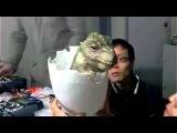 Маленький робот динозавр