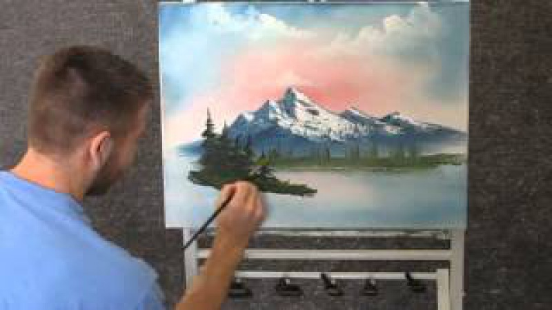 Paint with Kevin Hill - Unedited Mountain Sunrise