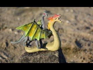 Дракон Динозавр Тиранозавр. Мультфильм для детей про диназавров и дракона