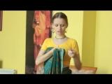 Как одеть сари
