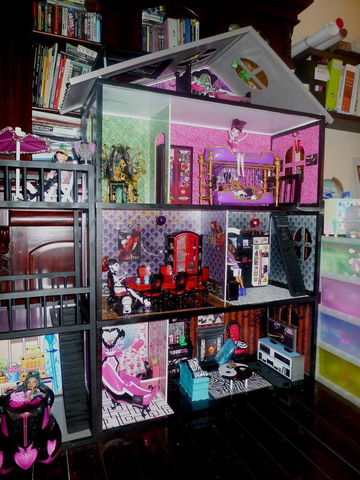 Домики книжки для кукол монстер хай своими руками