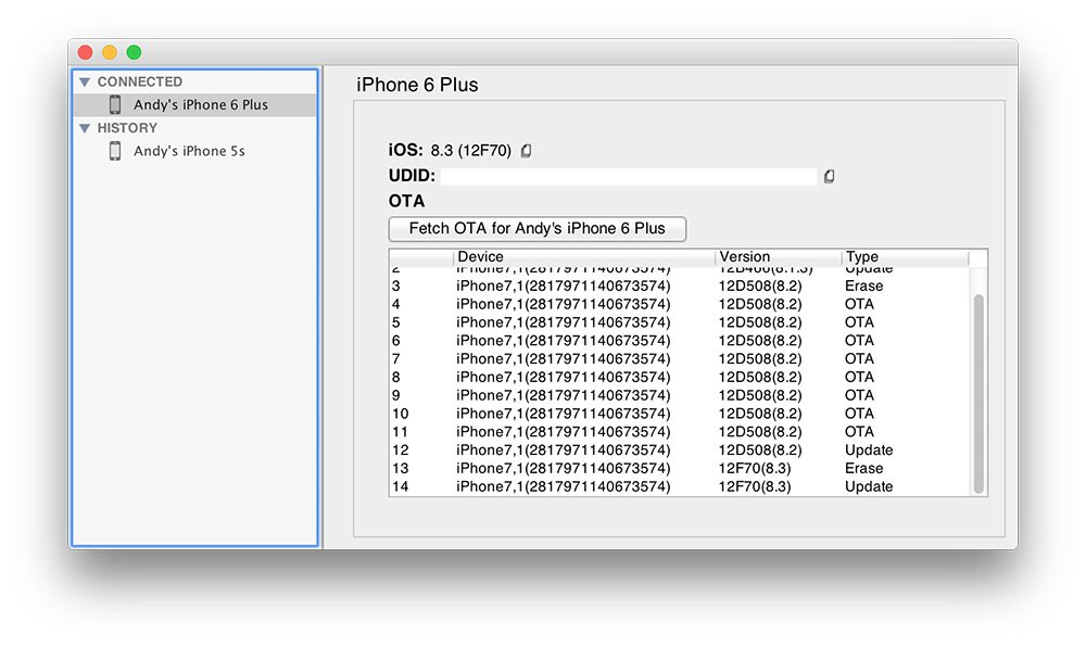 сохранение сертификата SHSH iOS 8.3