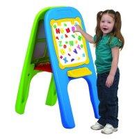 """Доска магнитная """"eduplay"""", для рисования, двусторонняя 2 маркера, сине-зеленая, Edu-Play"""