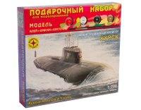 """Сборная модель атомного подводного крейсера """"курск"""", 1:700 (подарочный набор), Моделист"""
