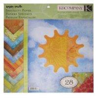 "Набор бумаги ""солнышко"", 31x31 см, 28 листов, K&Company"