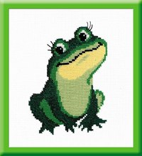 """Набор для вышивания """"лягушка"""" + нитки (18х13 см), РС-Студия"""