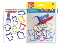 """Набор пластиковых аксессуаров для лепки """"animals"""", ErichKrause"""