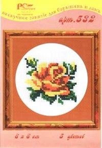"""Набор для вышивания """"роза"""" + нитки (8х8 см), РС-Студия"""