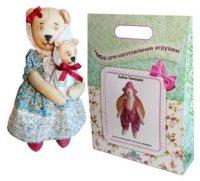 """Подарочный набор для изготовления текстильной игрушки """"мишка мама"""", высота 25 см, Кустарь"""