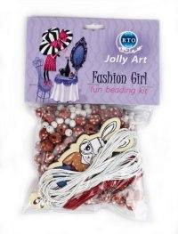 """Набор для создания украшений из деревянных бусин jolly art """"fashion girl"""", РТО"""