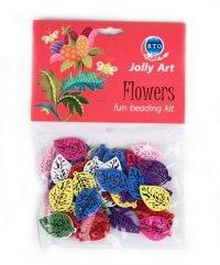 """Набор цветных деревянных бусин jolly art """"flowers"""", РТО"""