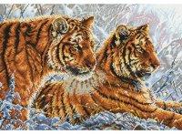"""Набор для вышивания """"амурские тигры"""", Белоснежка"""