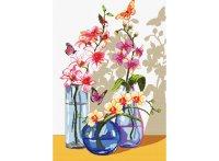 """Набор для вышивания """"орхидеи и бабочки"""", Белоснежка"""